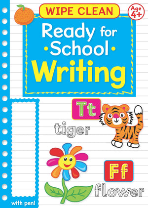 Ready For School Wipe Clean Educational Workbook - Writing 4