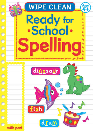 Ready For School Wipe Clean Educational Workbook - Spelling 4+