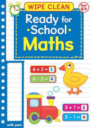 Ready For School Wipe Clean Educational Workbook - Maths 4+