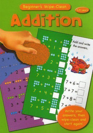 Wipe Clean Educational Book - Addition 3-5 years