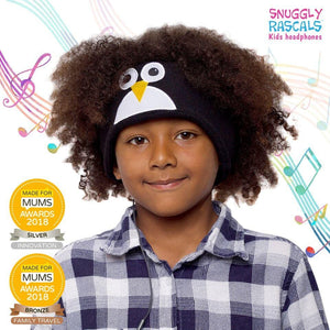 Snuggly Rascals - Ultra Comfortable Headphones - Penguin - KeepEmQuiet