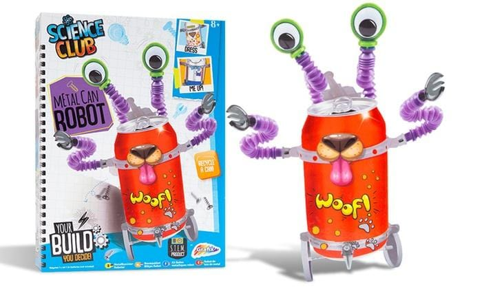STEM Science Kit - Make Your Own Metal Can Robot