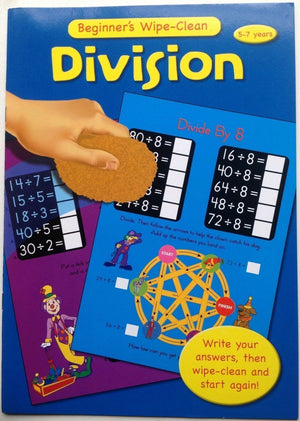 Wipe Clean Educational Book - Division 5-7 years