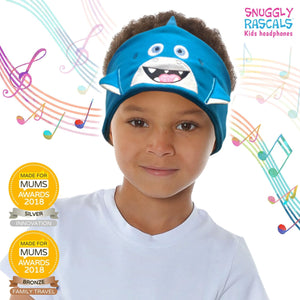 Snuggly Rascals - Ultra Comfortable Headphones - Shark (BLUE) - KeepEmQuiet