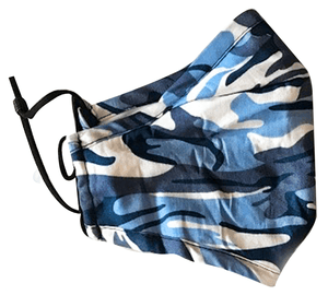 Kids Face Mask - Blue Camo
