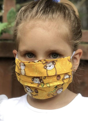 Unisex Kids Face Mask - Jumping Monkeys
