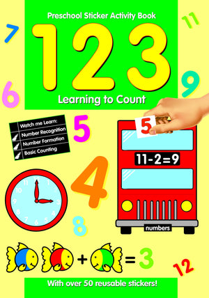 Preschool Sticker Activity Book - 123 Learning To Count