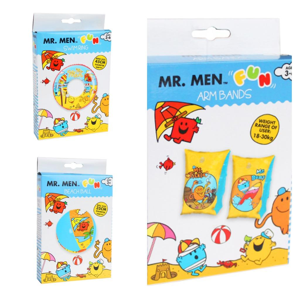 Mr Men Inflatable Set (Armbands, Beach Ball & Swim Ring) - KeepEmQuiet
