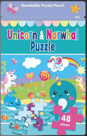 Unicorn & Narwhal Puzzle