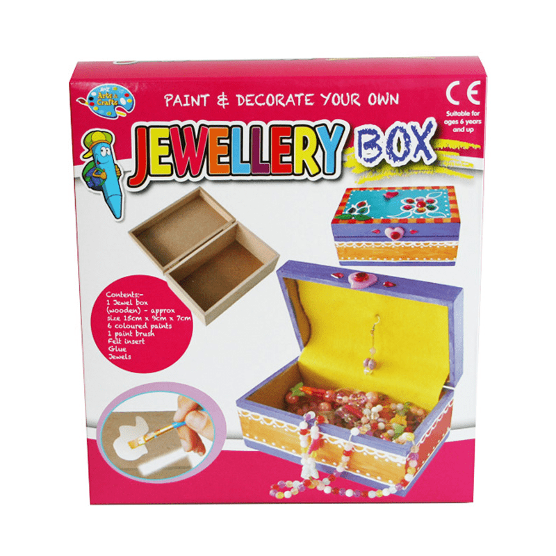 Paint & Decorate Your Own Jewellery Box