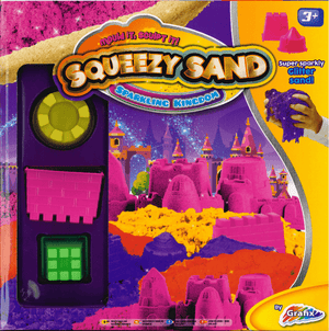 Squeezy Magic Kinetic Glitter Sand 'Sparkling Kingdom' Modelling Set