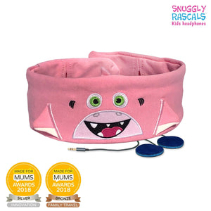 Snuggly Rascals - Ultra Comfortable Headphones - Shark (PINK) - KeepEmQuiet