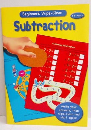 Wipe Clean Educational Book - Subtraction 3-5 years