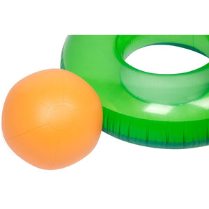 Inflatable Avocado Pool Ring - Float & Beach Ball In One! - KeepEmQuiet