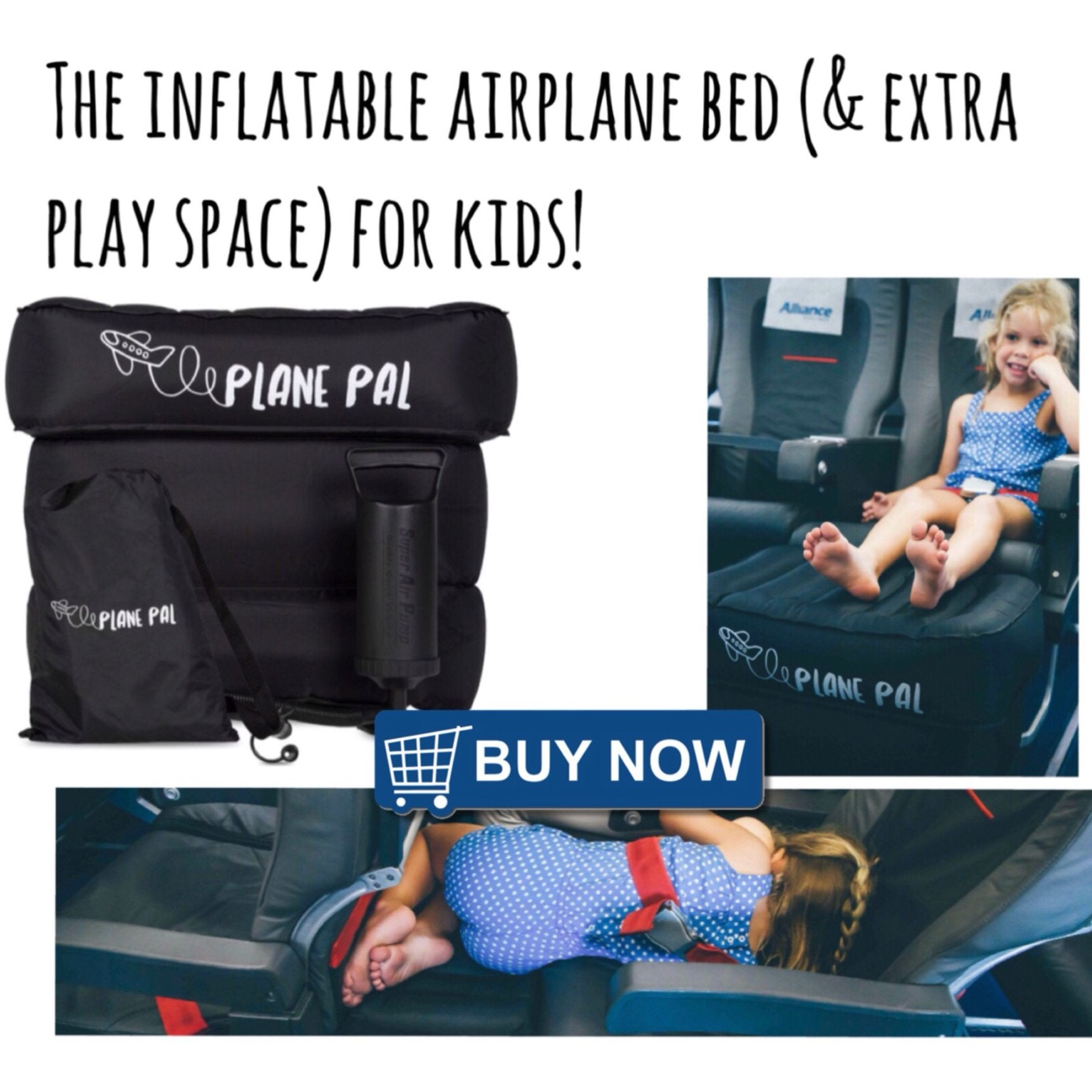planepal fly tot airplane extended pillow seat for kids