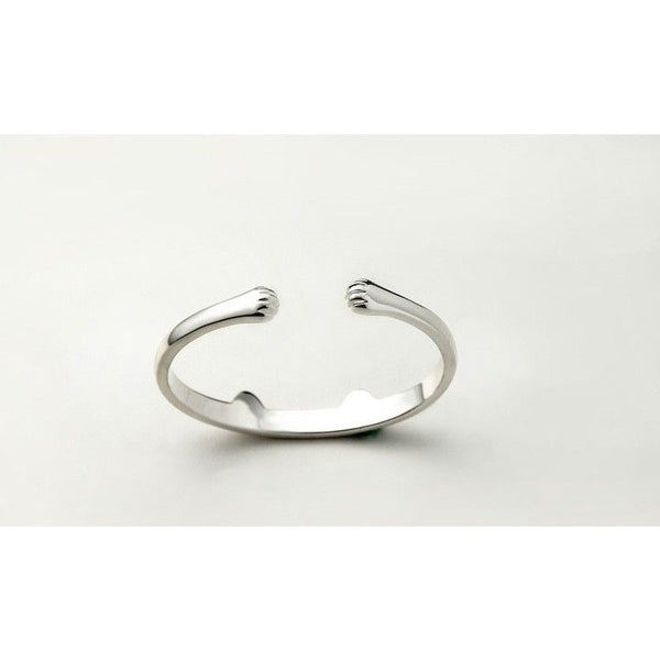 Sterling Silver Paws and Ears Cat Bracelet - Sweety Cats Boutique - 3