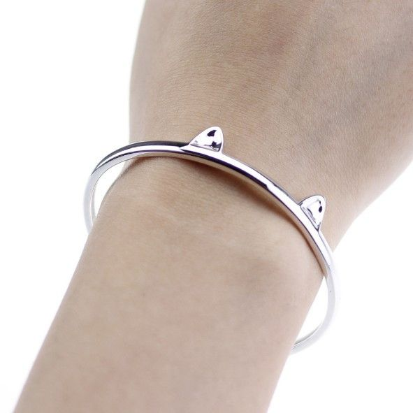 Sterling Silver Paws and Ears Cat Bracelet - Sweety Cats Boutique - 4