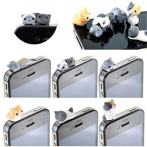 6 Cat Anti Dust Mobilephone Plug - Sweety Cats Boutique - 1