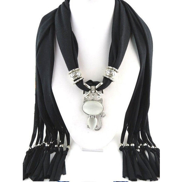 Scarf with Cat Pendant - Sweety Cats Boutique - 2