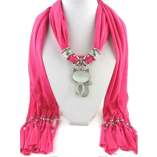 Scarf with Cat Pendant - Sweety Cats Boutique - 3