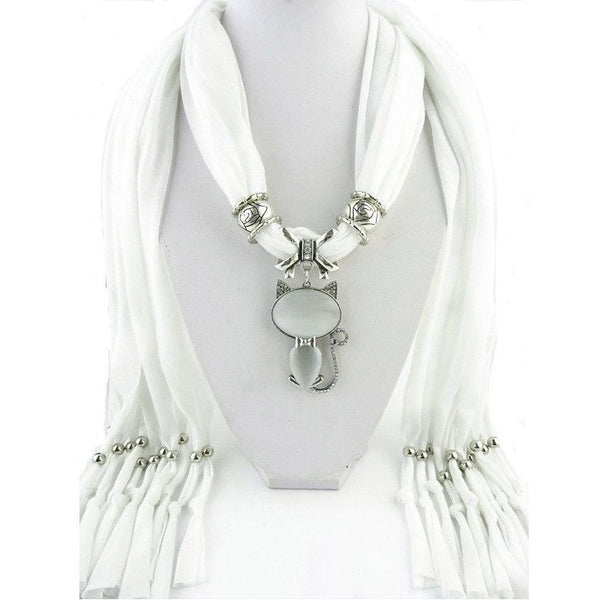Scarf with Cat Pendant - Sweety Cats Boutique - 4