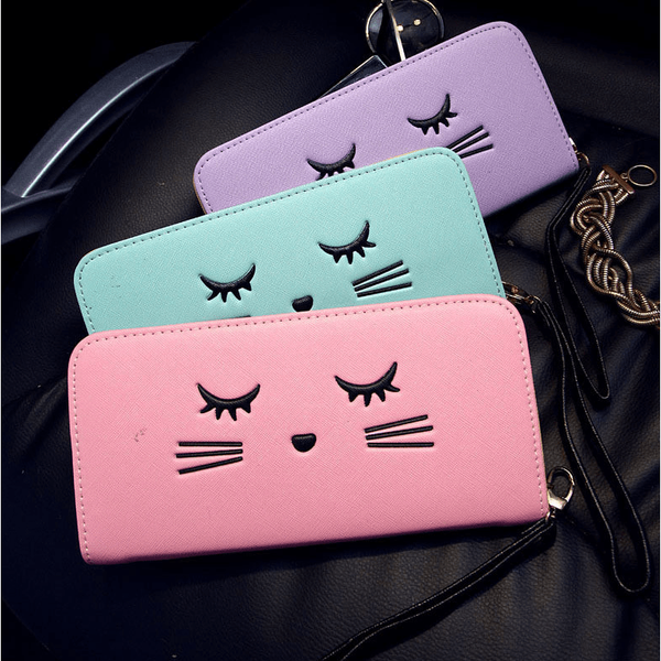Cat eyelashes Women Wallet - Sweety Cats Boutique - 5