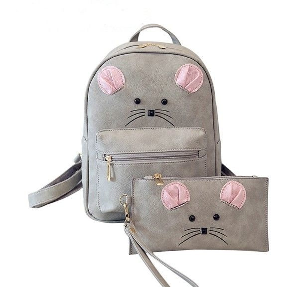 Mouse Backpack and assorted Pouch - Sweety Cats Boutique - 1