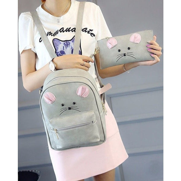 Mouse Backpack and assorted Pouch - Sweety Cats Boutique - 6