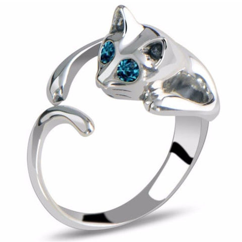 Blue Eyes Cat Tail Ring - Sweety Cats Boutique - 1