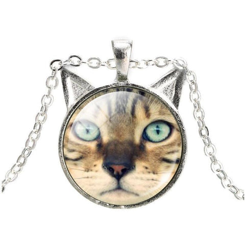 Cat Lover Glass Cabochon Necklace - Sweety Cats Boutique - 1