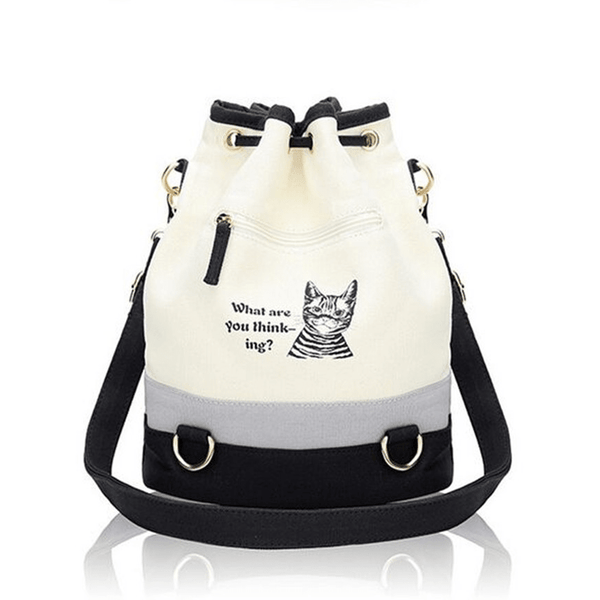 New ! Fashion Canvas Shoulder Cat Bag - Sweety Cats Boutique - 2