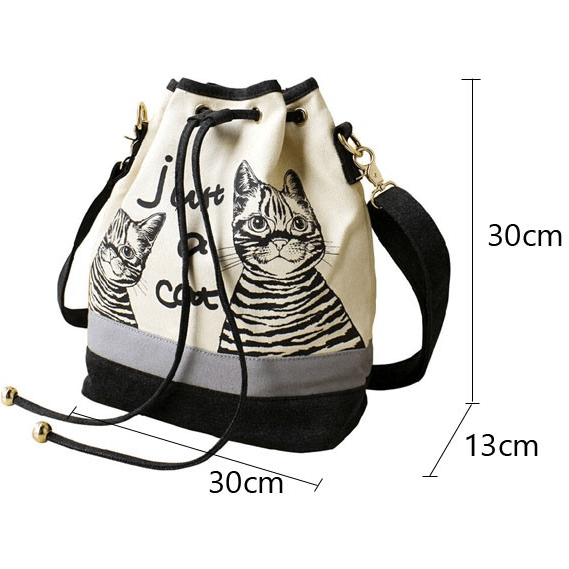New ! Fashion Canvas Shoulder Cat Bag - Sweety Cats Boutique - 4