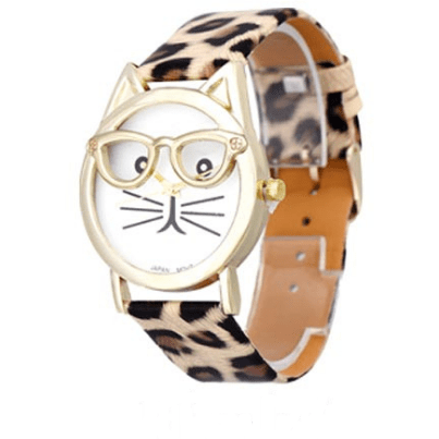 Cute Glasses Cat Watch - Sweety Cats Boutique - 5