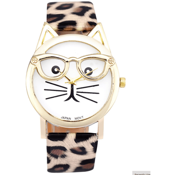 Cute Glasses Cat Watch - Sweety Cats Boutique - 3