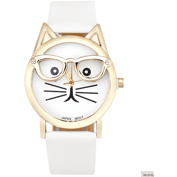 Cute Glasses Cat Watch - Sweety Cats Boutique - 6