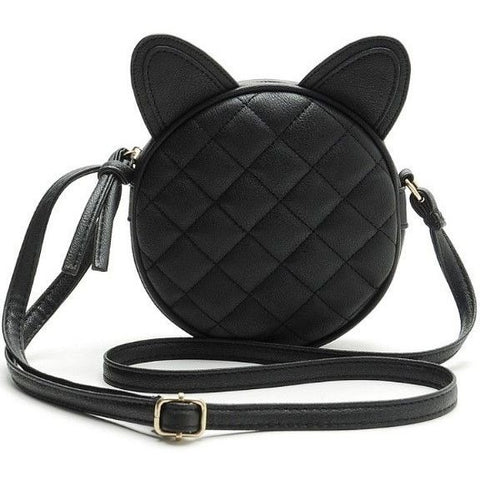 Black Cat Ears Messenger Bag - Sweety Cats Boutique - 1