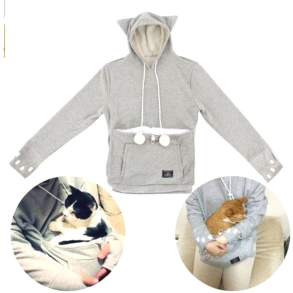 Cat Hoodie with Cat Pouch and Pompoms for your Cat! - Sweety Cats Boutique - 6