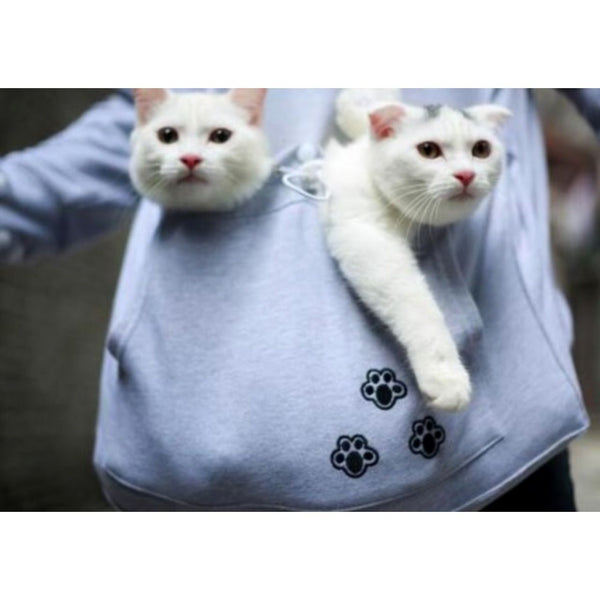 Cat Hoodie with Cat Pouch and Pompoms for your Cat! - Sweety Cats Boutique - 5