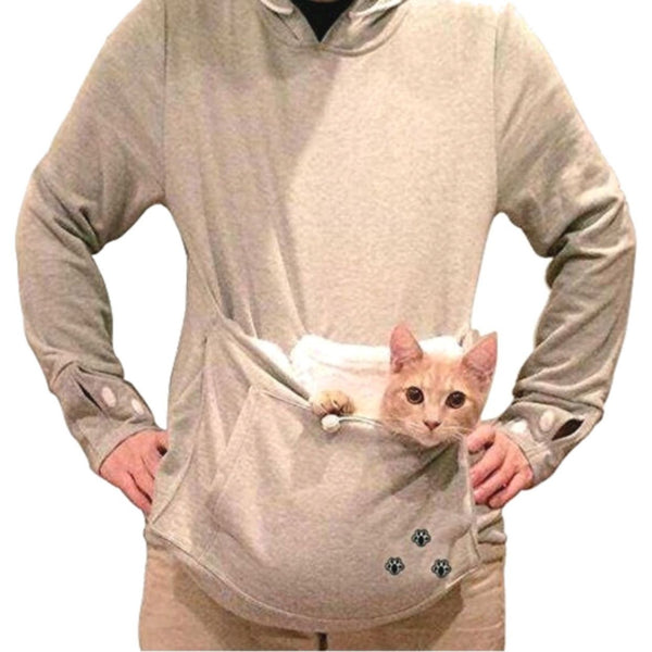 Cat Hoodie with Cat Pouch and Pompoms for your Cat! - Sweety Cats Boutique - 4