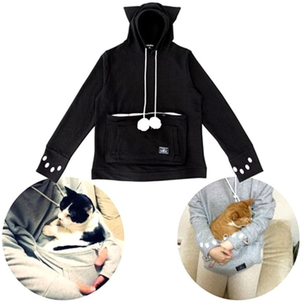 Cat Hoodie with Cat Pouch and Pompoms for your Cat! - Sweety Cats Boutique - 1