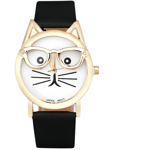 Cute Glasses Cat Watch - Sweety Cats Boutique - 4