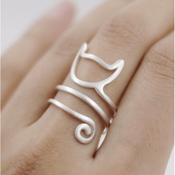 Sterling Silver Cat Ring - Sweety Cats Boutique - 3