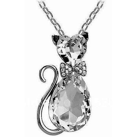Cat Crystal Necklace - Sweety Cats Boutique - 4