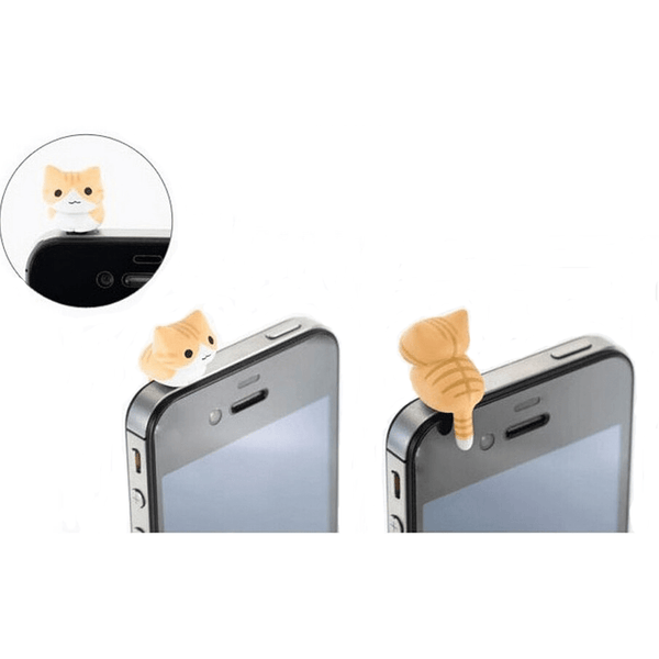 6 Cat Anti Dust Mobilephone Plug - Sweety Cats Boutique - 2