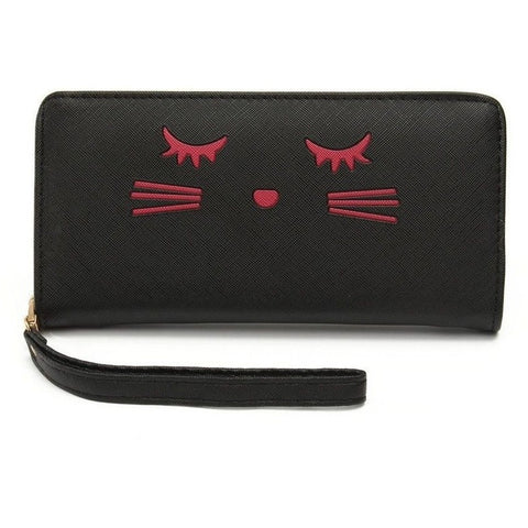 Cat eyelashes Women Wallet - Sweety Cats Boutique - 1