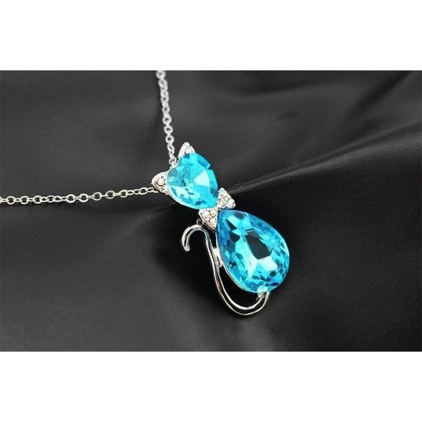 Cat Crystal Necklace - Sweety Cats Boutique - 5