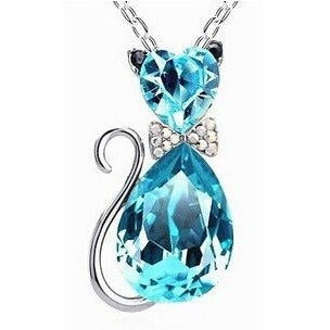 Cat Crystal Necklace - Sweety Cats Boutique - 3