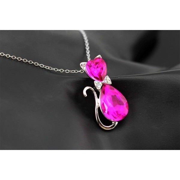 Cat Crystal Necklace - Sweety Cats Boutique - 7