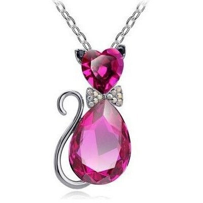 Cat Crystal Necklace - Sweety Cats Boutique - 2