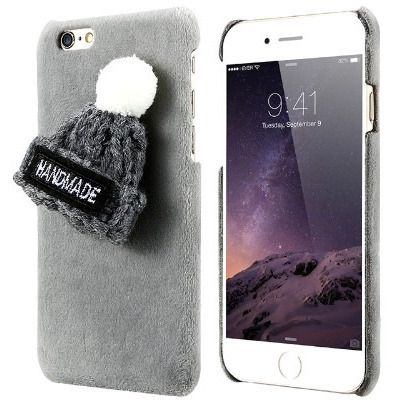 Fur Knitted Winter Hat Iphone Case - Sweety Cats Boutique - 4